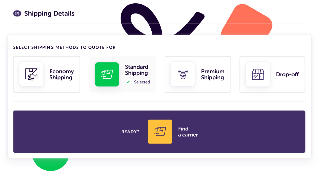 shipping details mobile